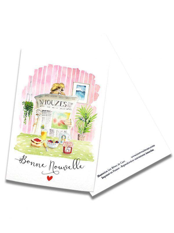 cartes-postales-bonne-nouvelle-rectoverso-les-reves-de-caro