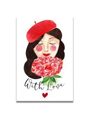 cartes-postales-brune-with-love-les-reves-de-caro
