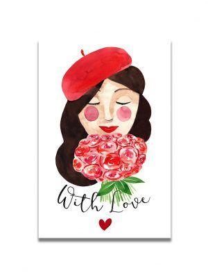 cartes-postales-brune-with-love-les-reves-de-caro