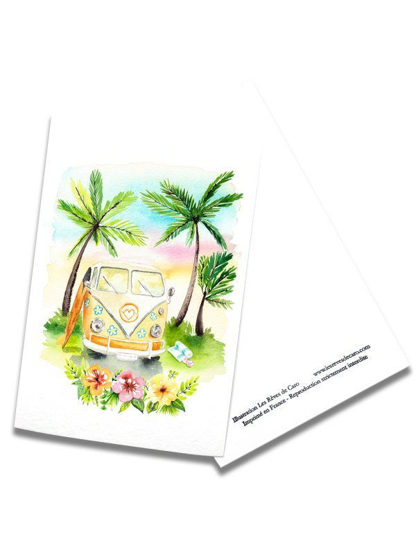 cartes-postales-combi-vacances-rectoverso-les-reves-de-caro