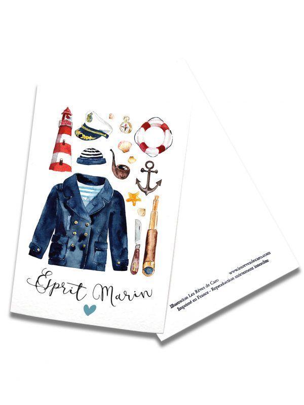cartes-postales-esprit-marin-rectoverso-les-reves-de-caro