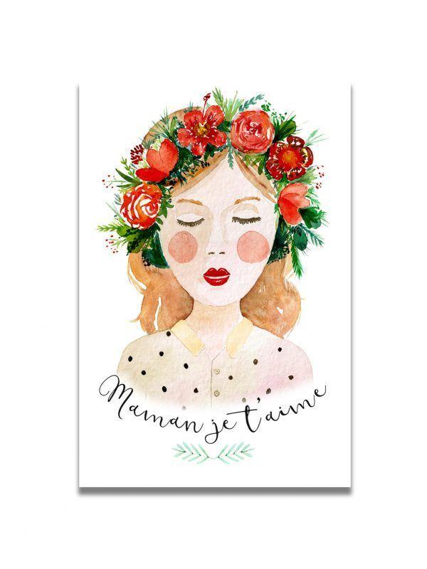 cartes-postales-fete-mere-brune-les-reves-de-caro