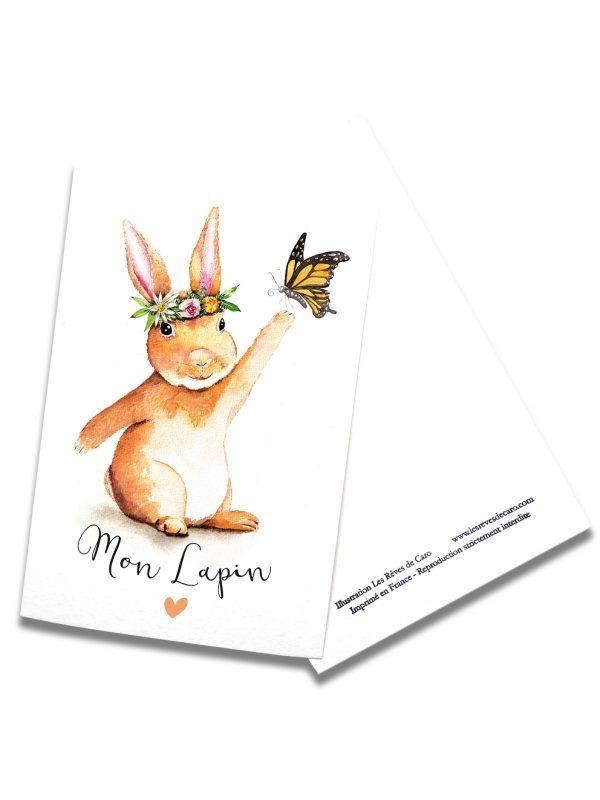 cartes-postales-mon-lapin-rectoverso-les-reves-de-caro