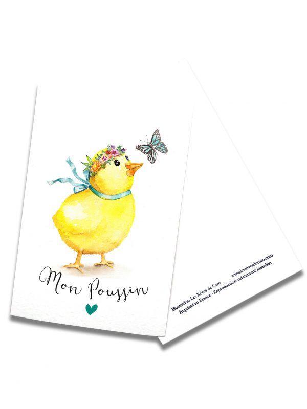 cartes-postales-mon-poussin-rectoverso-les-reves-de-caro
