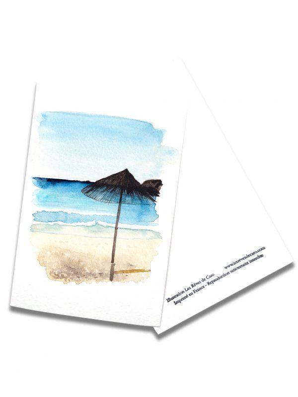 cartes-postales-paillotte-rectoverso-les-reves-de-caro