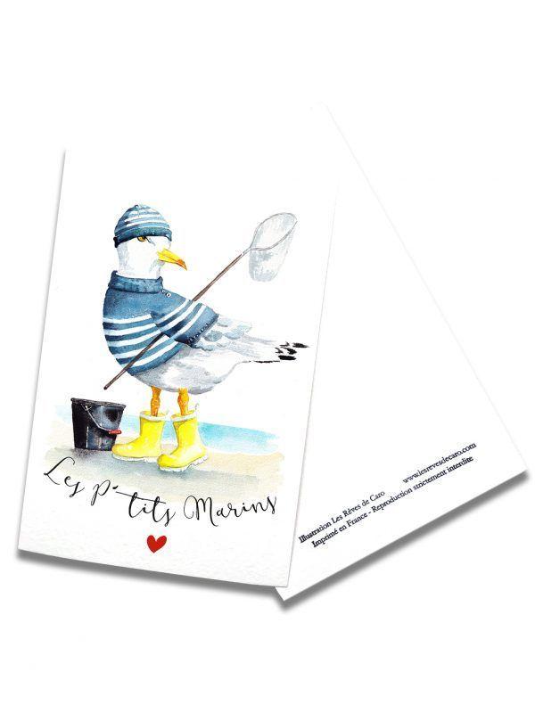 cartes-postales-ptit-marin-goeland-rectoverso-les-reves-de-caro