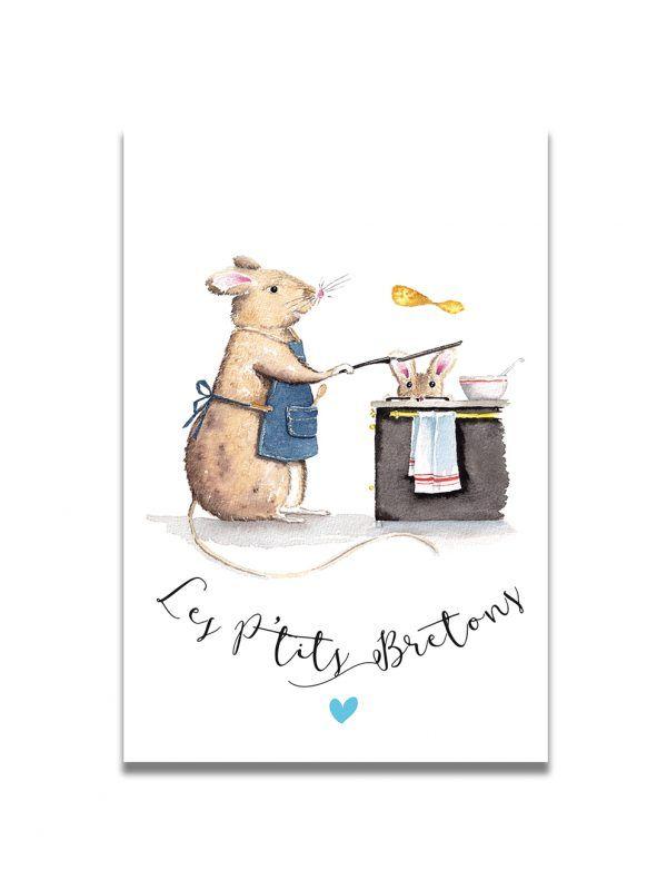 cartes-postales-ptits-bretons-souris-les-reves-de-caro