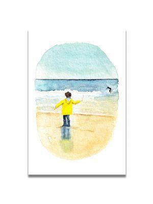 cartes-postales-surf-longchamp-les-reves-de-caro