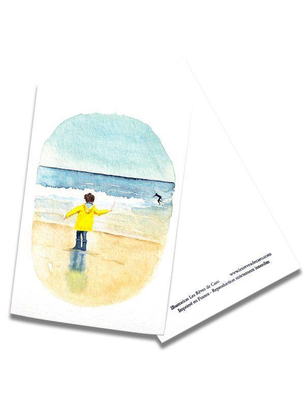 cartes-postales-surf-longchamp-rectoverso-les-reves-de-caro