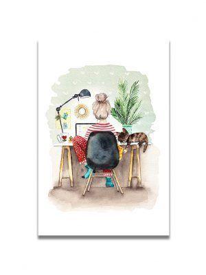 cartes-postales-teletravail-les-reves-de-caro