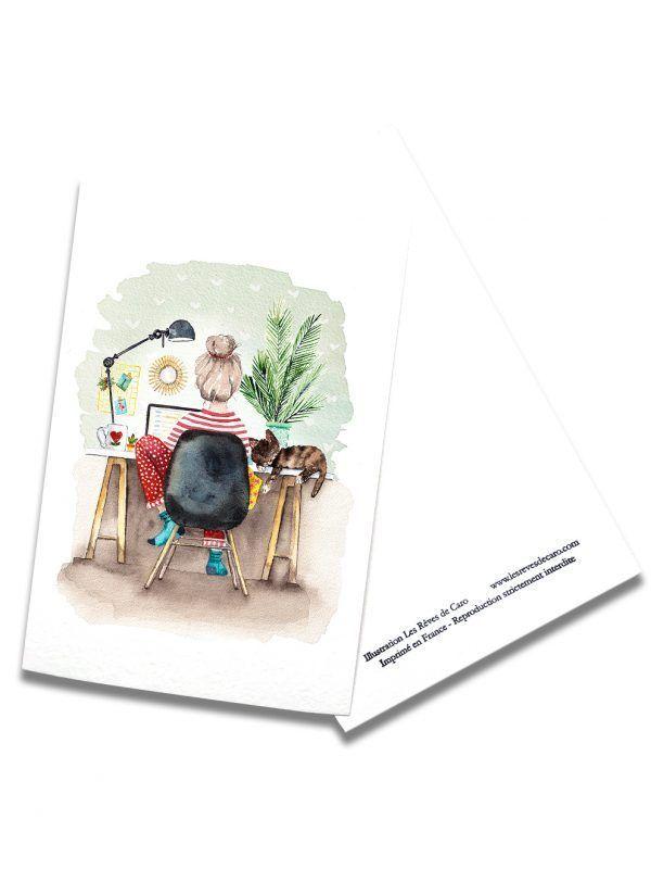 cartes-postales-teletravail-rectoverso-les-reves-de-caro