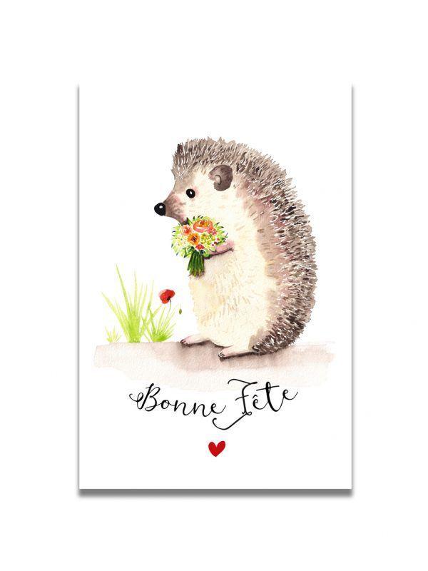 cartes-postales-herisson-bonne-fete-les-reves-de-caro