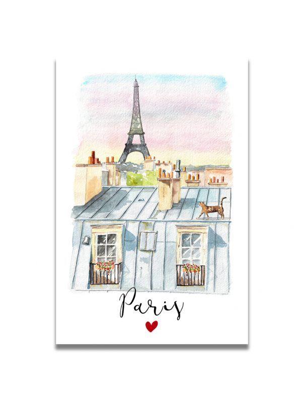 cartes-postales-paris-toits-les-reves-de-caro