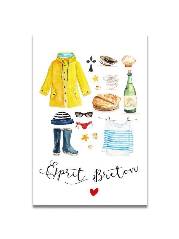 cartes-postales-accessoires-breton-les-reves-de-caro
