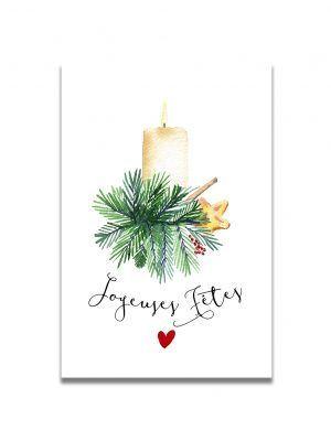 cartes-postales-joyeuses-fetes-bougie-les-reves-de-caro