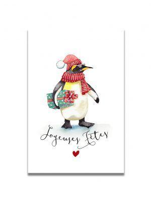 cartes-postales-joyeuses-fetes-pingouin-les-reves-de-caro